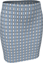 Load image into Gallery viewer, The Nicole Fitted Skirt in Blue and White