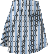 Load image into Gallery viewer, The Nicole Flare Skirt in Blue and White