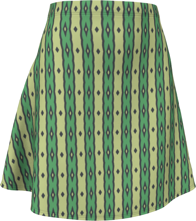 The Nicole Flare Skirt in Green