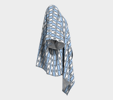 Load image into Gallery viewer, The Nicole Kimono in Blue and White-Clash Patterns