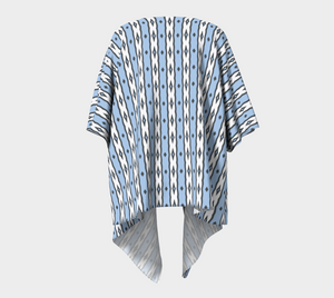 The Nicole Kimono in Blue and White-Clash Patterns