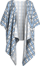 Load image into Gallery viewer, The Nicole Kimono in Blue and White-Draped Kimono-Clash Patterns by Jennifer Akkermans