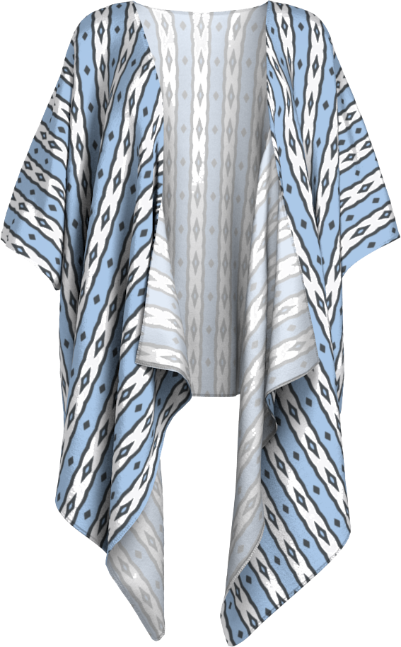 The Nicole Kimono in Blue and White