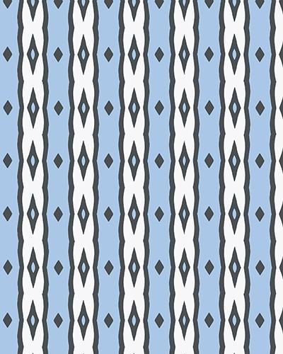 The Nicole Print-at-Home Art Print in Blue and White - Digital Download-Clash Patterns