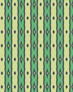 The Nicole Print-at-Home Art Print in Green - Digital Download-Clash Patterns