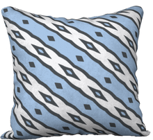 Load image into Gallery viewer, The Nicole Reversible Pillow in Blue and White