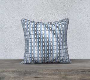 The Nicole Reversible Pillow in Blue and White-Clash Patterns
