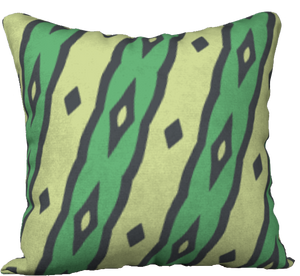 The Nicole Reversible Pillow in Green