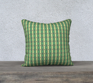 The Nicole Reversible Pillow in Green-Clash Patterns