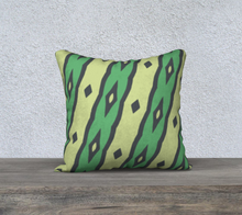 Load image into Gallery viewer, The Nicole Reversible Pillow in Green-Clash Patterns
