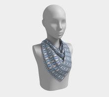 Load image into Gallery viewer, The Nicole Square Scarf in Blue and White