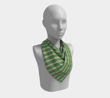 Load image into Gallery viewer, The Nicole Square Scarf in Green