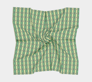 The Nicole Square Scarf in Green
