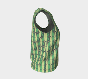 The Nicole Tank Top in Green-Clash Patterns