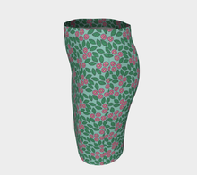 Load image into Gallery viewer, The Pamela Fitted Skirt in Green and Pink-Clash Patterns