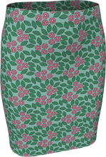 Load image into Gallery viewer, The Pamela Fitted Skirt in Green and Pink