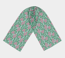 Load image into Gallery viewer, The Pamela Garden Long Scarf in Green and Pink