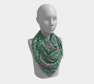 The Pamela Garden Scarf in Green and Pink