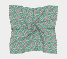Load image into Gallery viewer, The Pamela Garden Scarf in Green and Pink