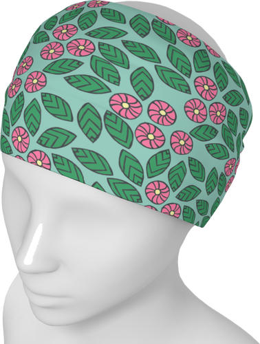 The Pamela Headband in Green and Pink-Headband-Clash Patterns by Jennifer Akkermans