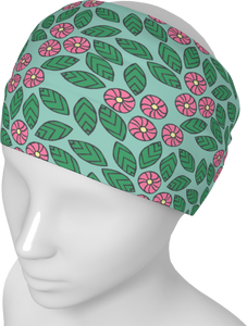 The Pamela Headband in Green and Pink