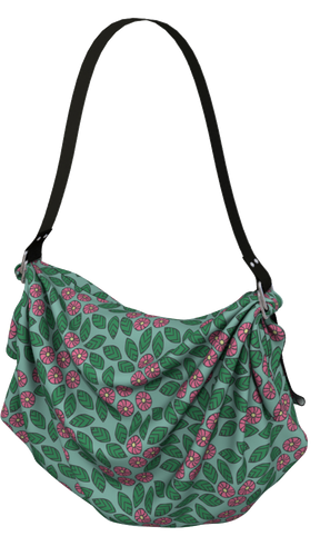 The Pamela Origami Bag in Green and Pink-Origami Tote-Clash Patterns by Jennifer Akkermans