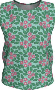 The Pamela Tank Top in Green and Pink