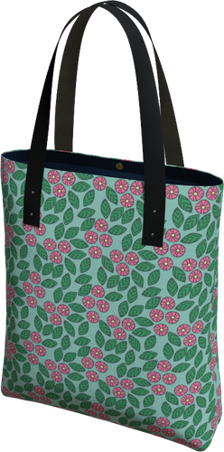 The Pamela Tote Bag in Green and Pink-Tote Bag-Clash Patterns by Jennifer Akkermans