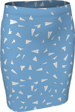 Load image into Gallery viewer, The Paper Planes Fitted Skirt in Blue