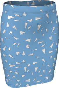 The Paper Planes Fitted Skirt in Blue