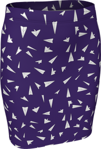 The Paper Planes Fitted Skirt in Purple