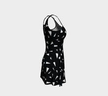 Load image into Gallery viewer, The Paper Planes Flare Dress in Black-Clash Patterns