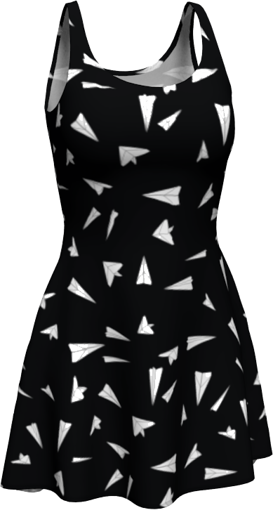The Paper Planes Flare Dress in Black