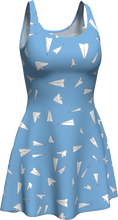 Load image into Gallery viewer, The Paper Planes Flare Dress in Blue
