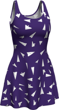 Load image into Gallery viewer, The Paper Planes Flare Dress in Purple