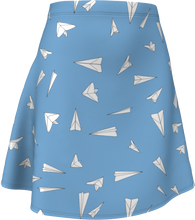 Load image into Gallery viewer, The Paper Planes Flare Skirt in Blue