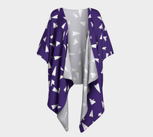 Load image into Gallery viewer, The Paper Planes Kimono in Purple-Clash Patterns