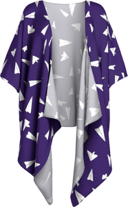 The Paper Planes Kimono in Purple