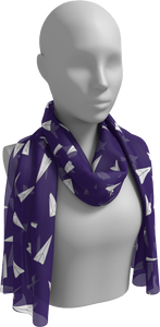 The Paper Planes Long Scarf in Purple