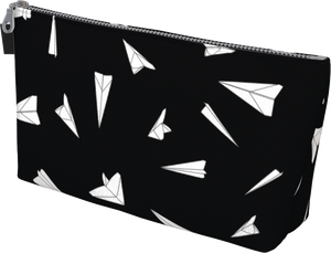 The Paper Planes Makeup Bag in Black