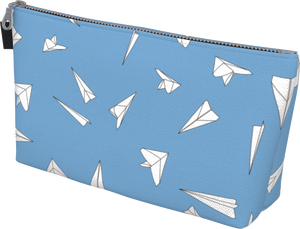 The Paper Planes Makeup Bag in Blue