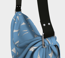 Load image into Gallery viewer, The Paper Planes Origami Bag in Blue-Clash Patterns