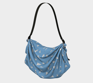The Paper Planes Origami Bag in Blue-Clash Patterns