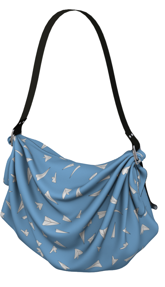 The Paper Planes Origami Bag in Blue