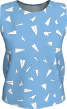 Load image into Gallery viewer, The Paper Planes Tank Top in Blue