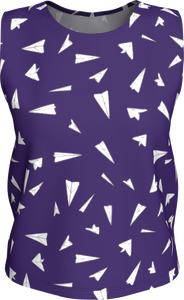 The Paper Planes Tank Top in Purple