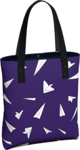 Load image into Gallery viewer, The Paper Planes Tote Bag in Purple