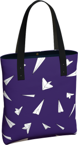 The Paper Planes Tote Bag in Purple