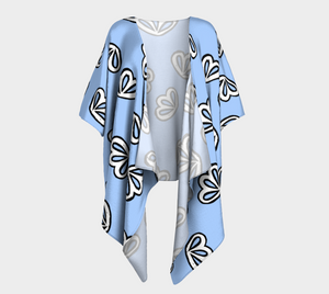 The Paula Kimono in Periwinkle-Clash Patterns