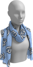 Load image into Gallery viewer, The Paula Long Scarf in Periwinkle